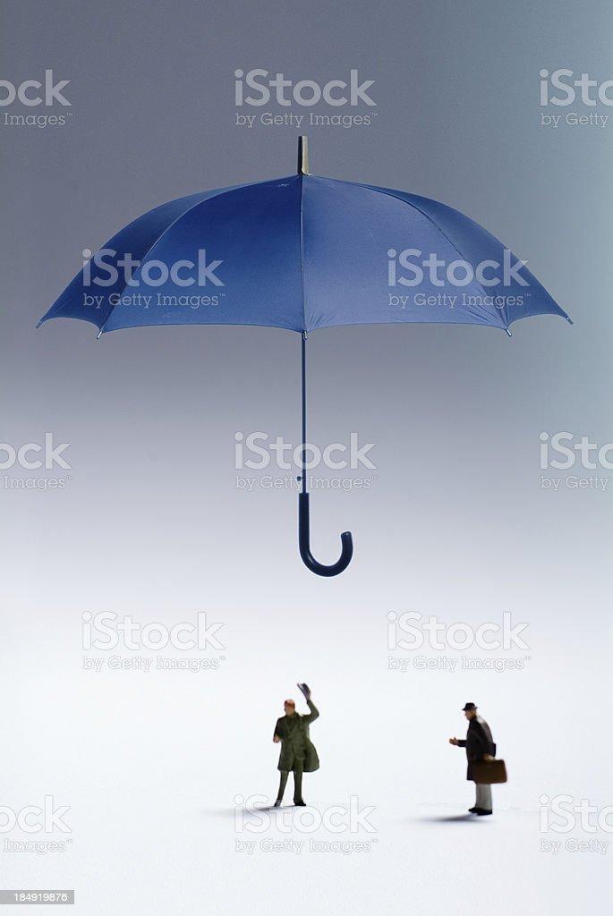 Umbrella Protection royalty-free stock photo