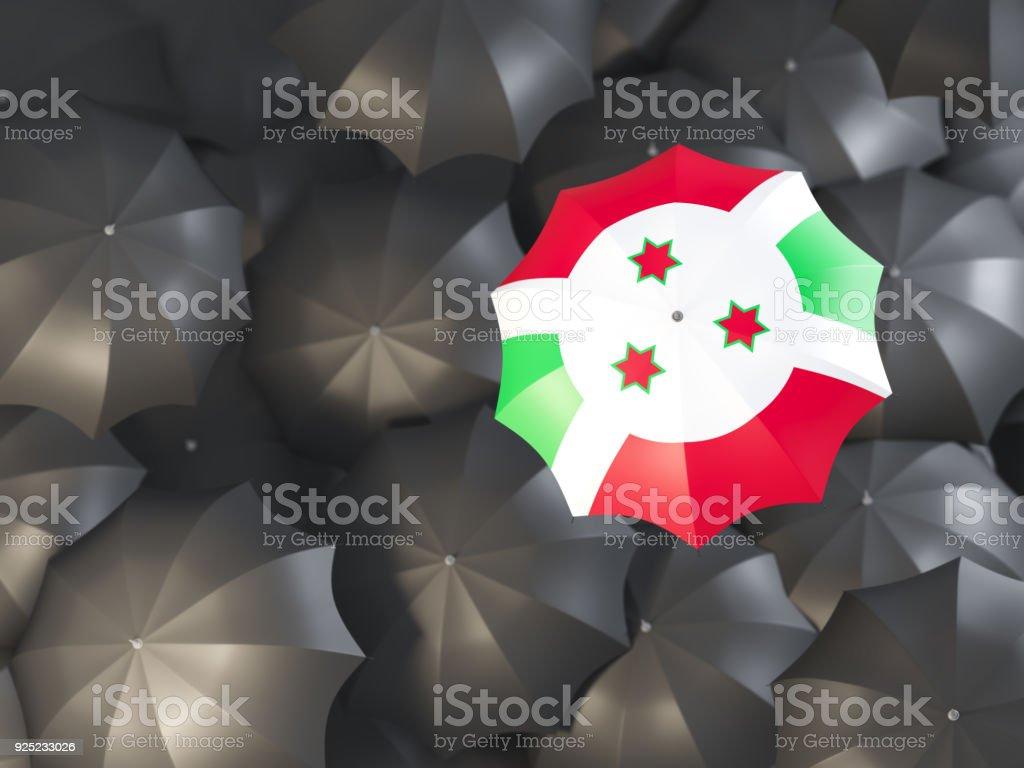 Umbrella with flag of burundi stock photo