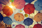 istock Umbrellas falling from the sky 177036781