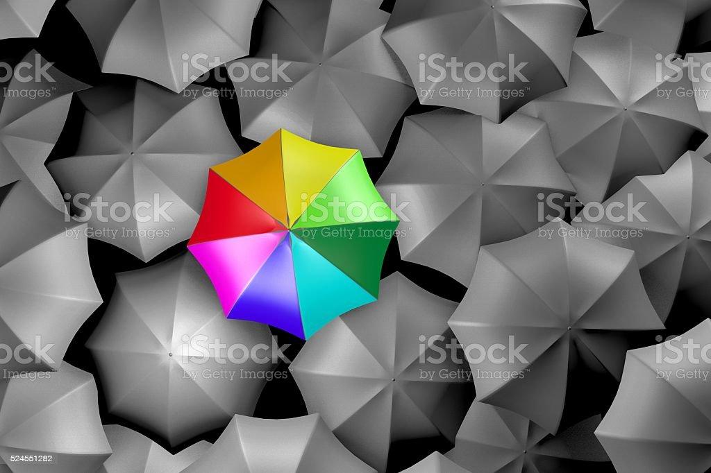 3D umbrellas stock photo