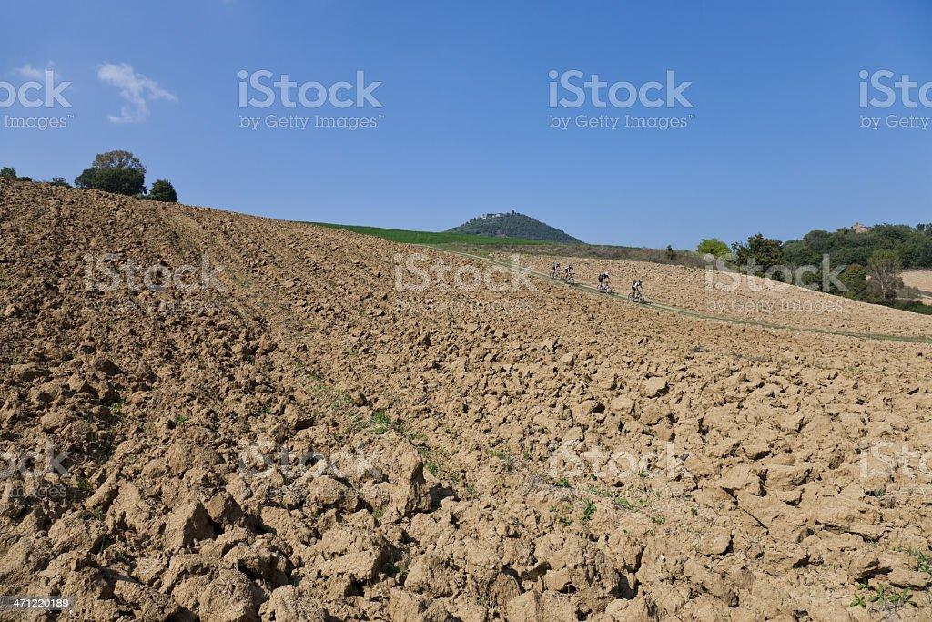 Umbrian downhill royalty-free stock photo