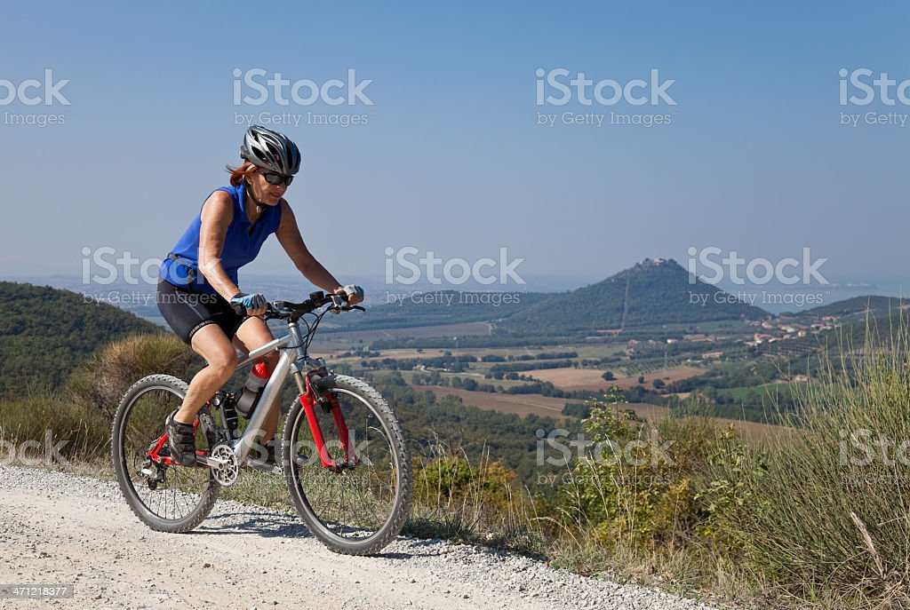 Umbrian mountainbiking royalty-free stock photo