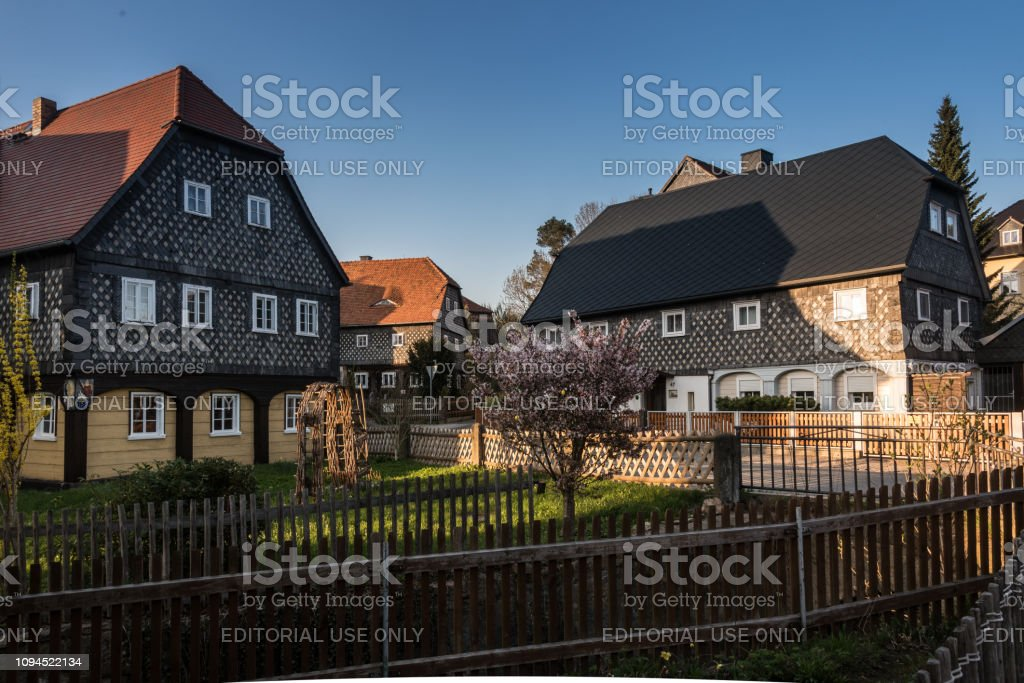 O Umgebindehaus in Obercunnersdorf, Sachsen in Deutschland – Foto