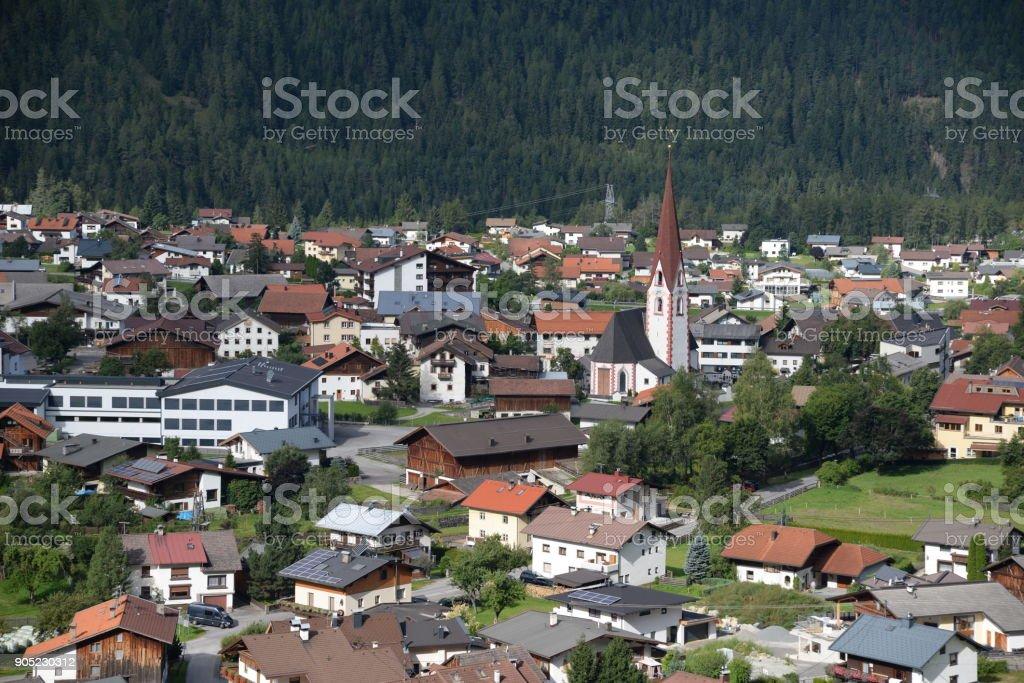 Umhausen, Oetztal, Austria stock photo