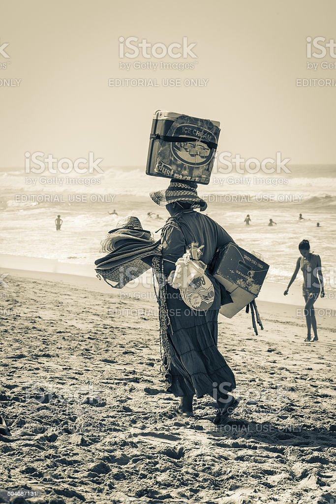 Umhlanga Beach vendor stock photo