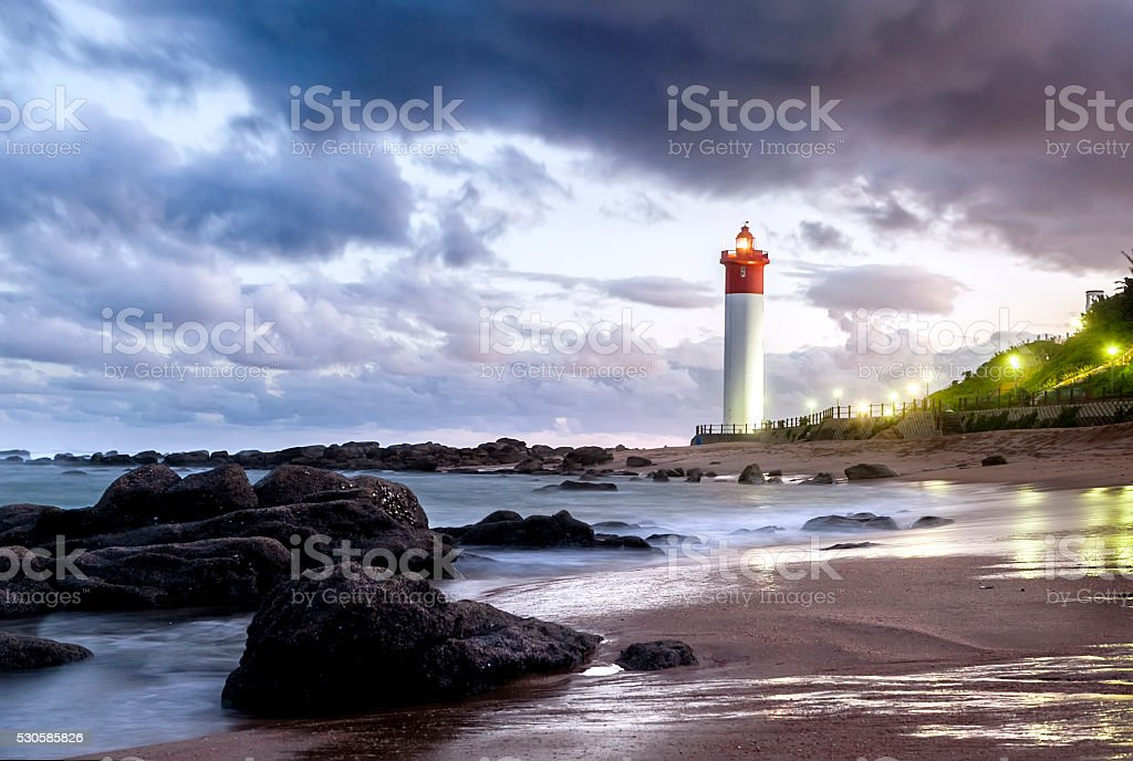 Umhlanga Lighthouse, Durban stock photo