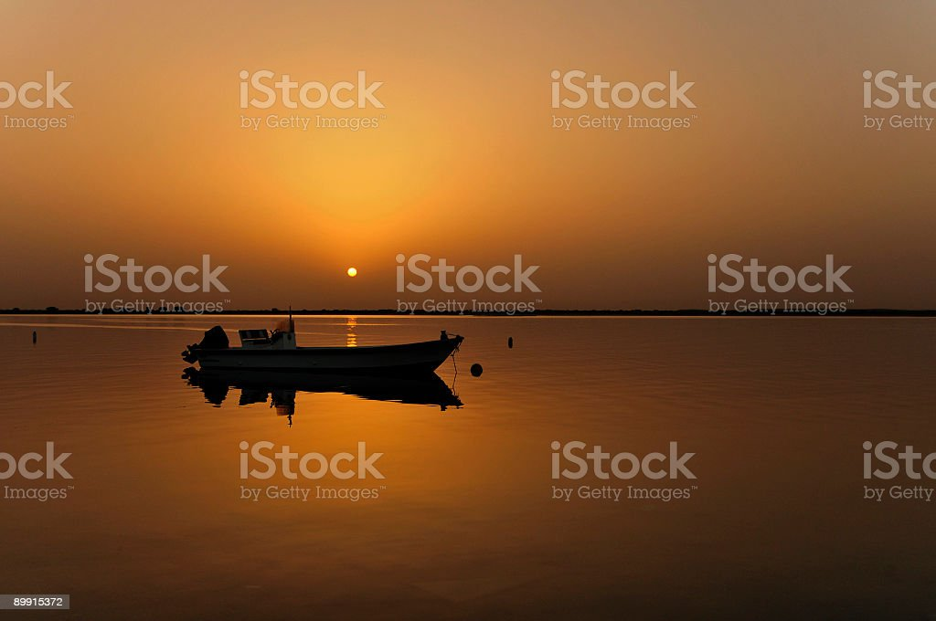 umm al quwain fishing boat royalty-free stock photo