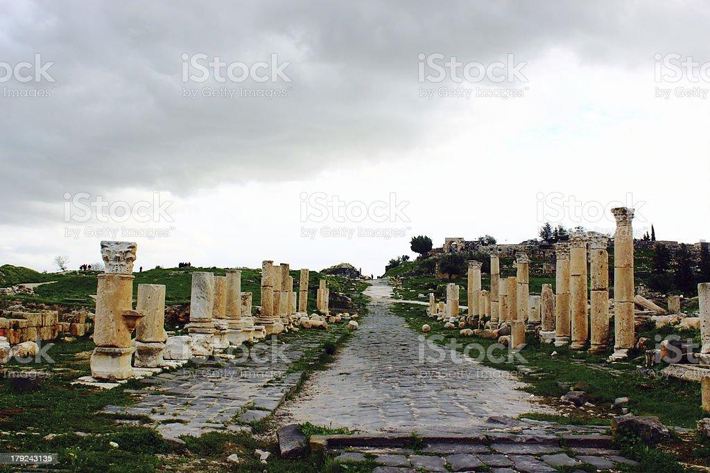 Umm Qais City royalty-free stock photo