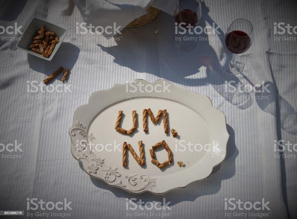 Um...No picnic stock photo