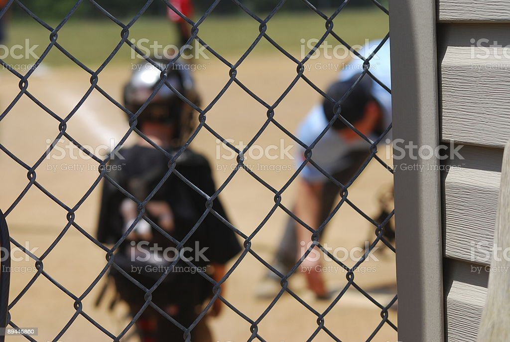 Umpire and Catcher royalty-free stock photo