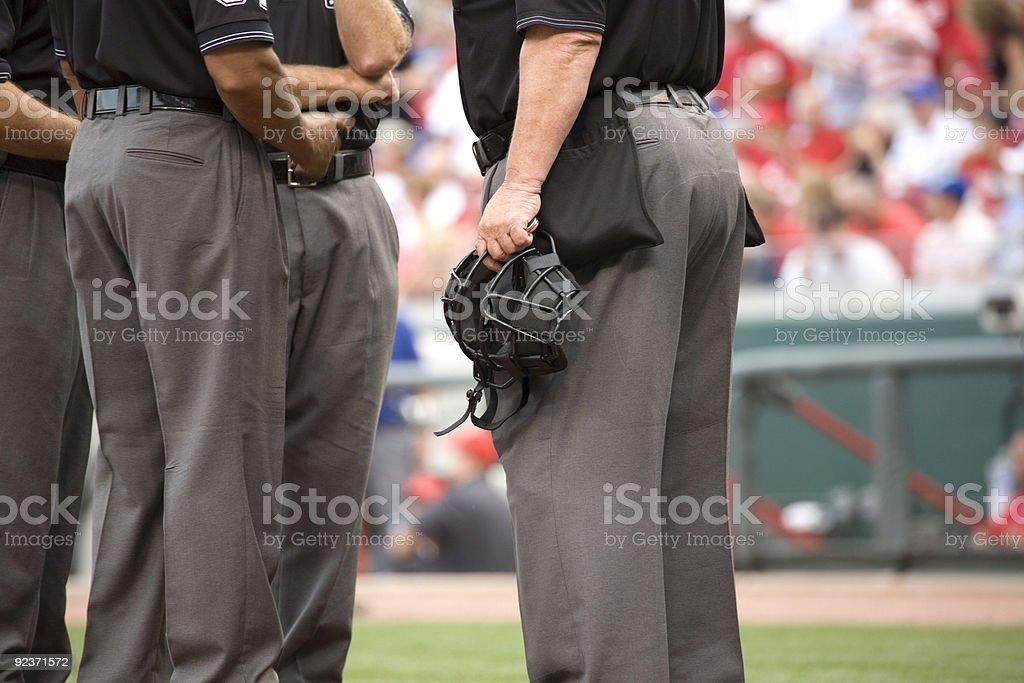 Umpire Crew royalty-free stock photo
