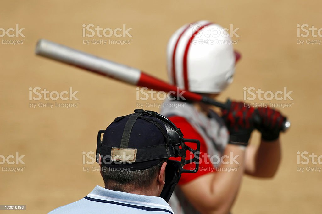 Umpire's View royalty-free stock photo