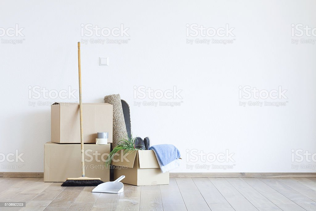 Umzug mit Kartons stock photo
