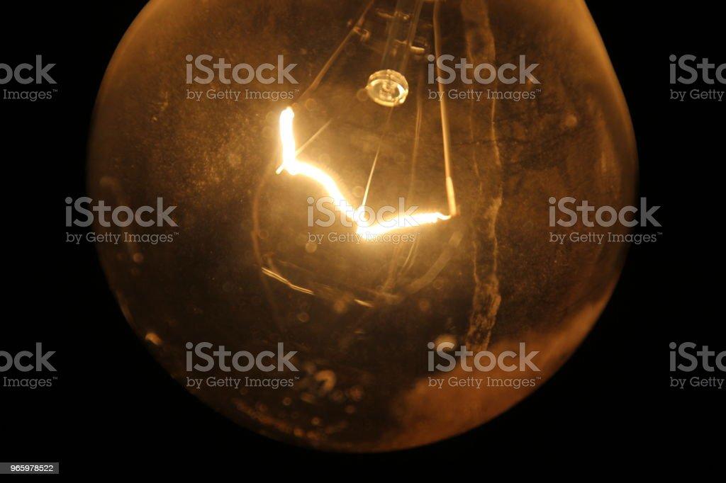 Una lampadina e i suoi filamenti - Royalty-free Bright Stock Photo