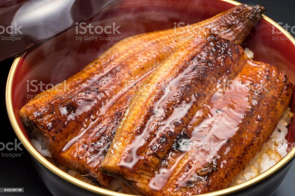 Unadon ist traditionelle japanische Küche der gegrillte Aal. – Foto