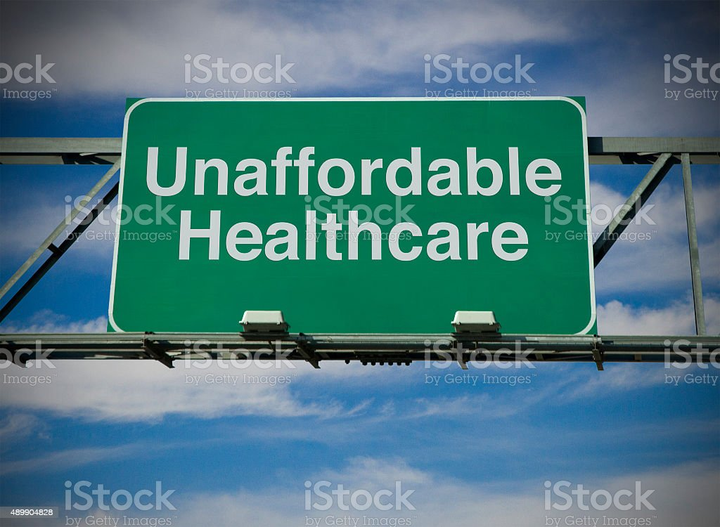 Unaffordable Healthcare stock photo