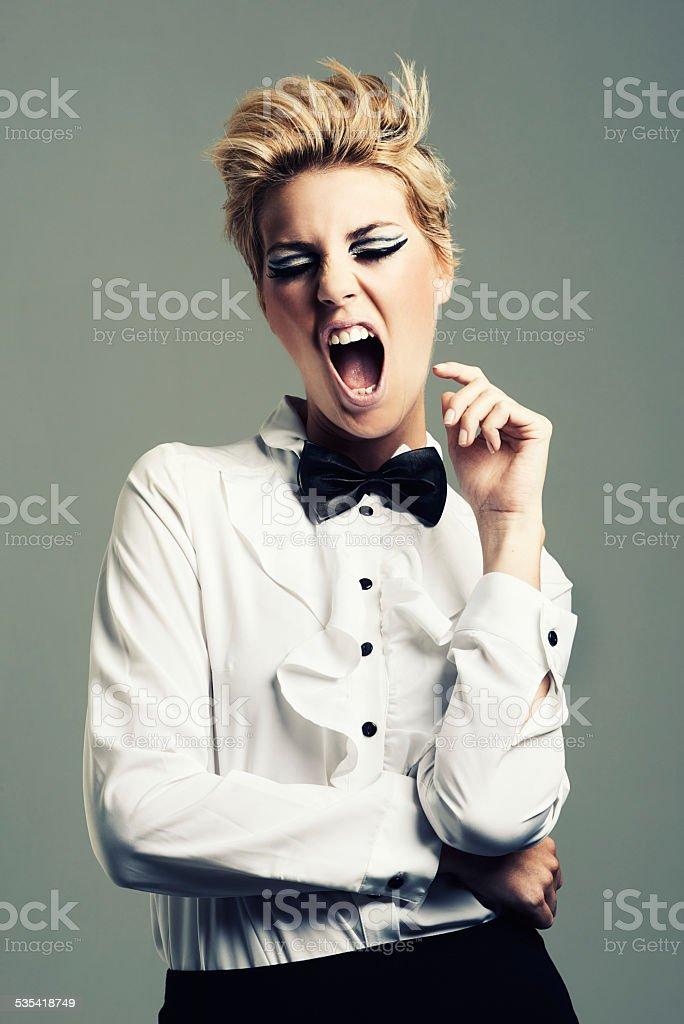 Unafraid to express herself stock photo