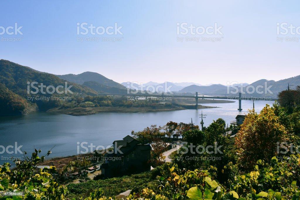 Unam Bridge stock photo