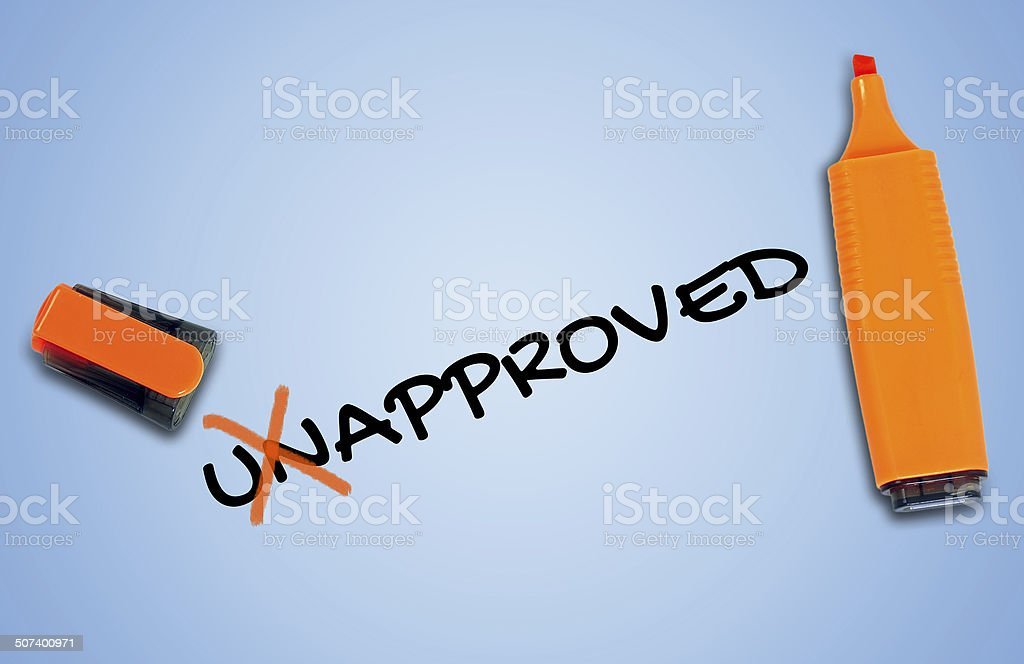 Unapproved word stock photo