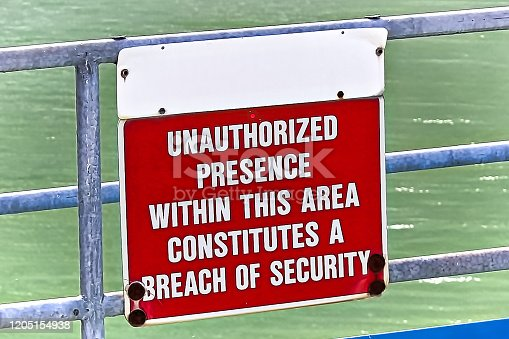 A unauthorized presence within the area is a security breach sign.