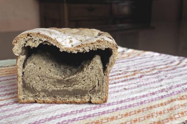 Unbake homemade bread stock photo