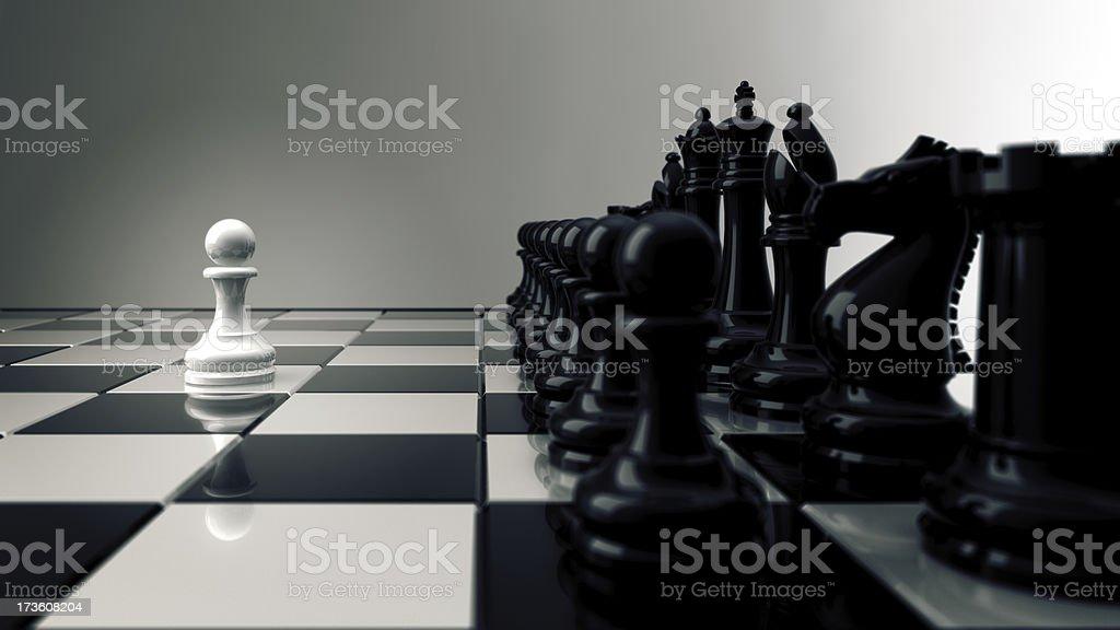 Unbalanced (concept rendering) royalty-free stock photo