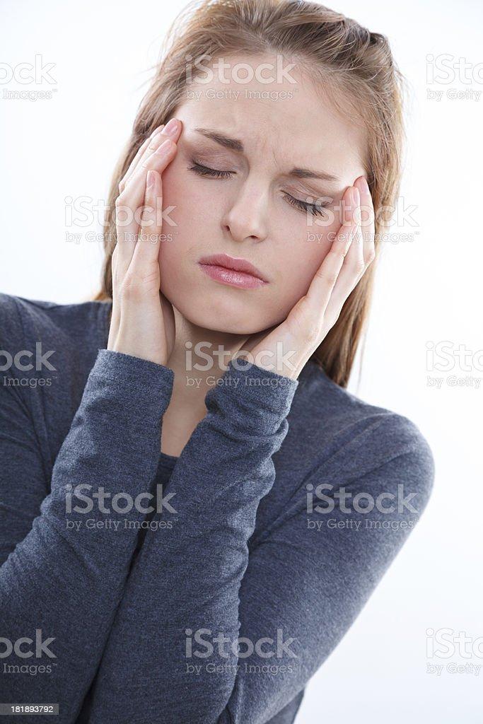 Unbearable headache royalty-free stock photo