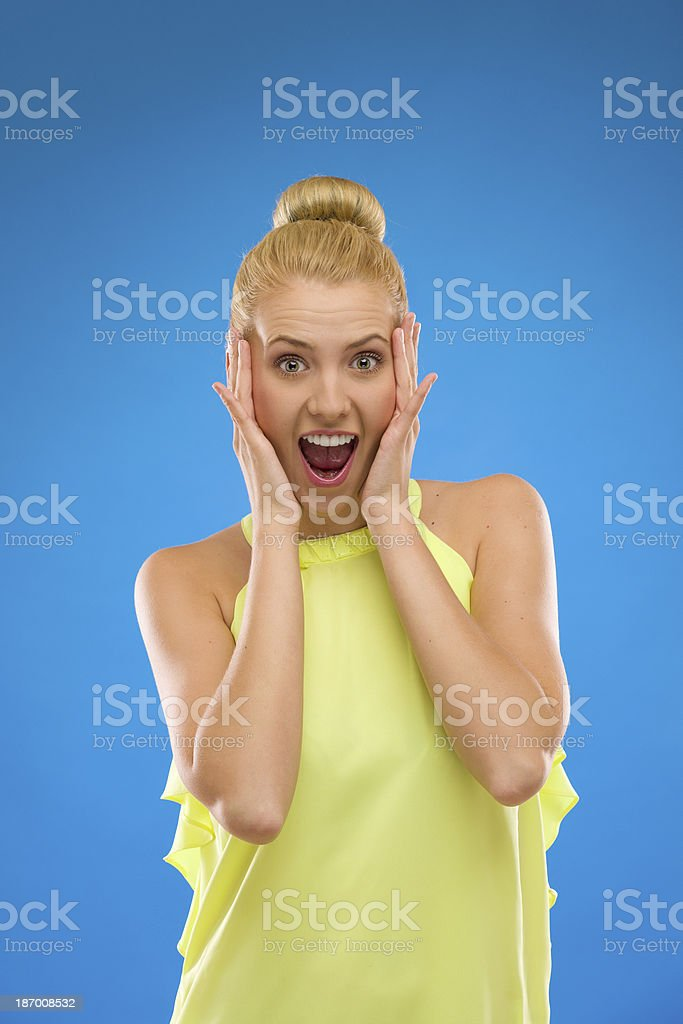 Unbelievable. I won at the lottery. royalty-free stock photo