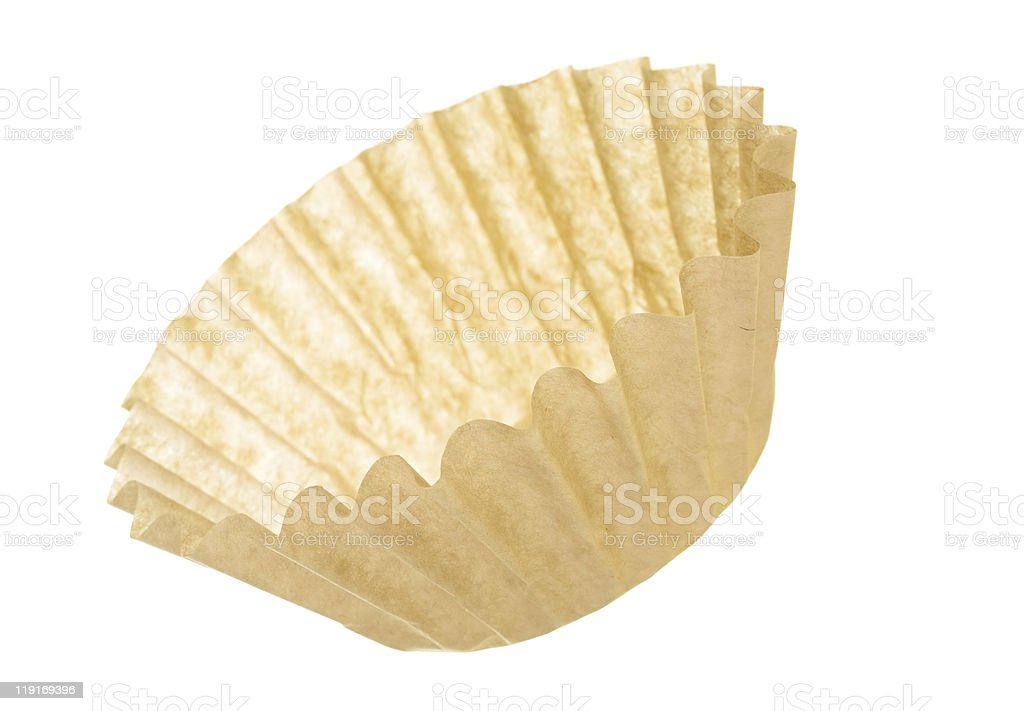 Unbleached Coffee Filter royalty-free stock photo