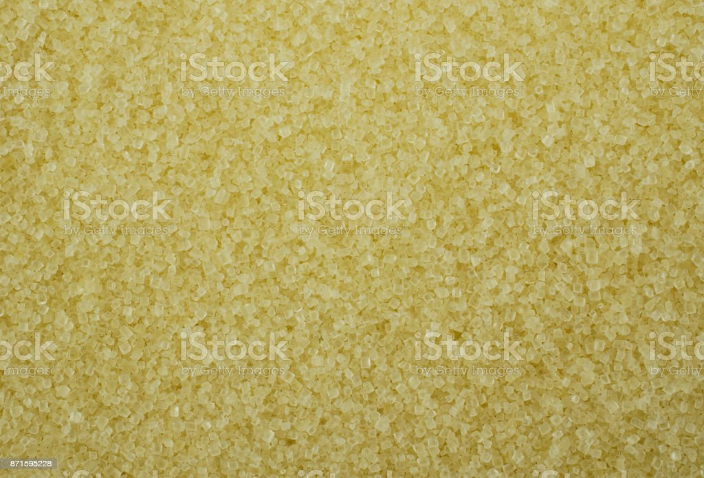 Unbleached Sugar Crystals Full Frame Close Up stock photo