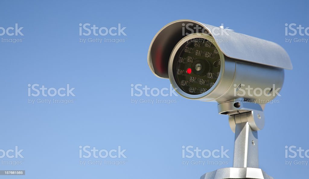 Unblinking Eye; Twenty Four Hour Home Security Surveillance Camera royalty-free stock photo