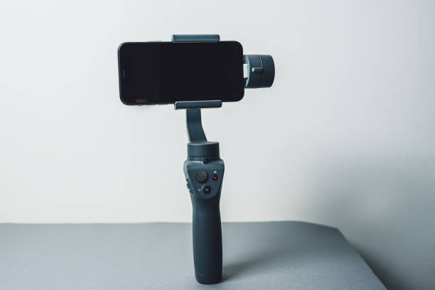 Unboxing new DJI Osmo Mobile 2 stock photo