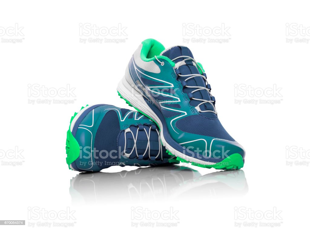 Unbranded sneaker isolated. stock photo