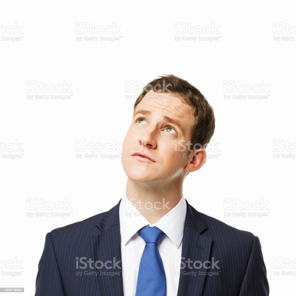 Uncertain Businessman - Isolated royalty-free stock photo