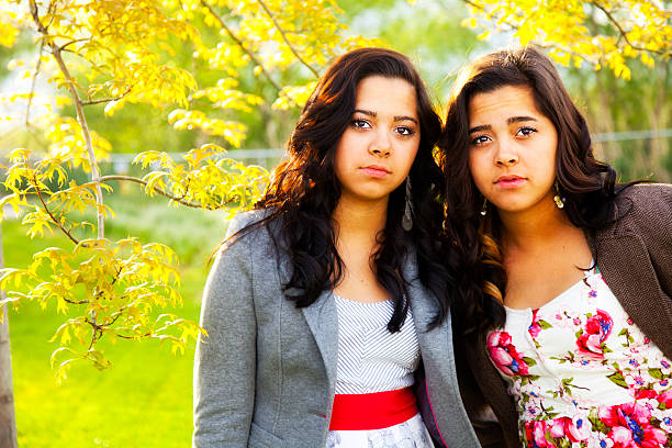 Best Two Mixed Race Twin Sisters Portrait Stock Photos ...