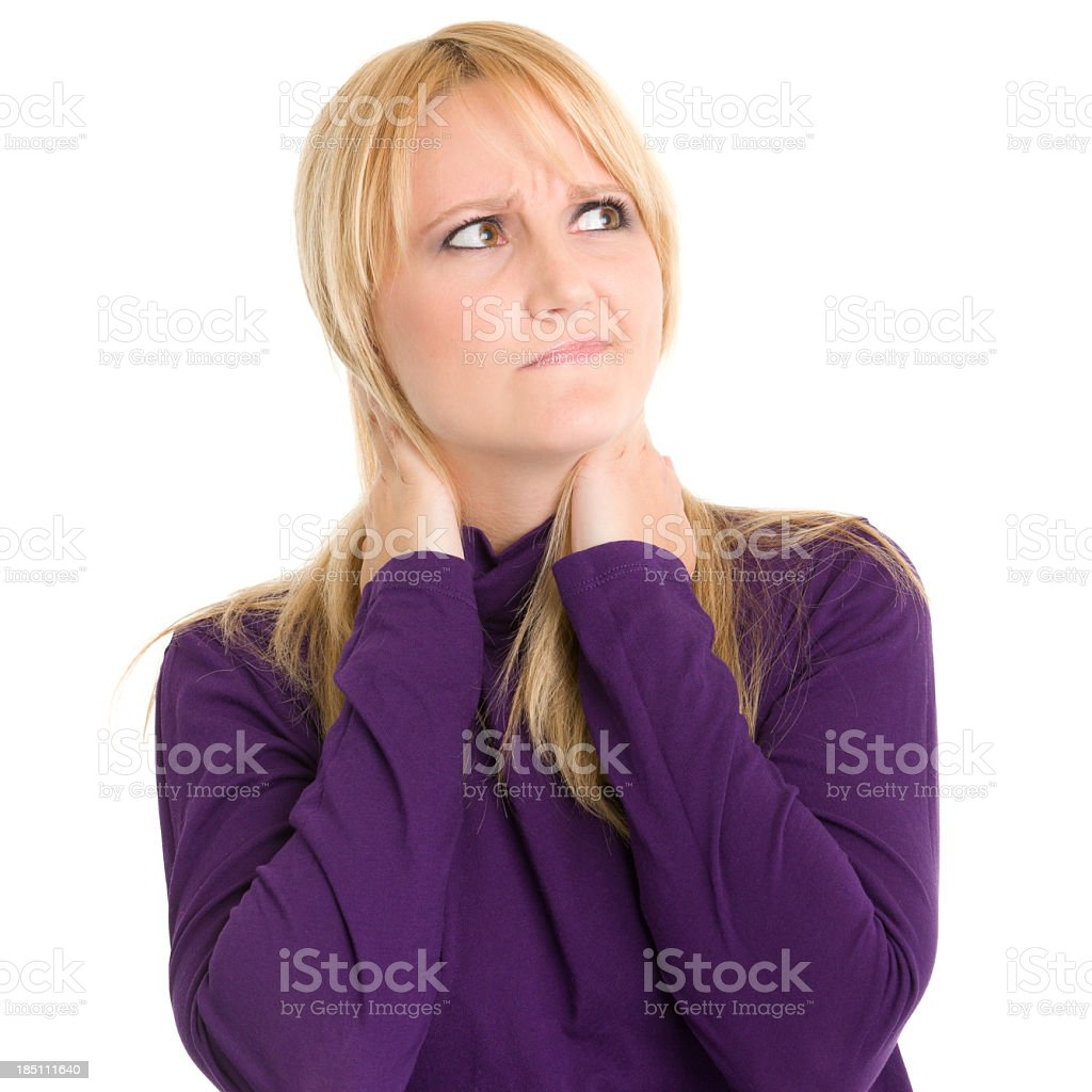 Uncertain Woman Looking Away royalty-free stock photo