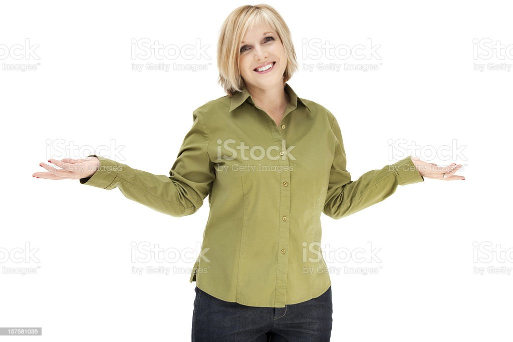 Uncertain Woman stock photo