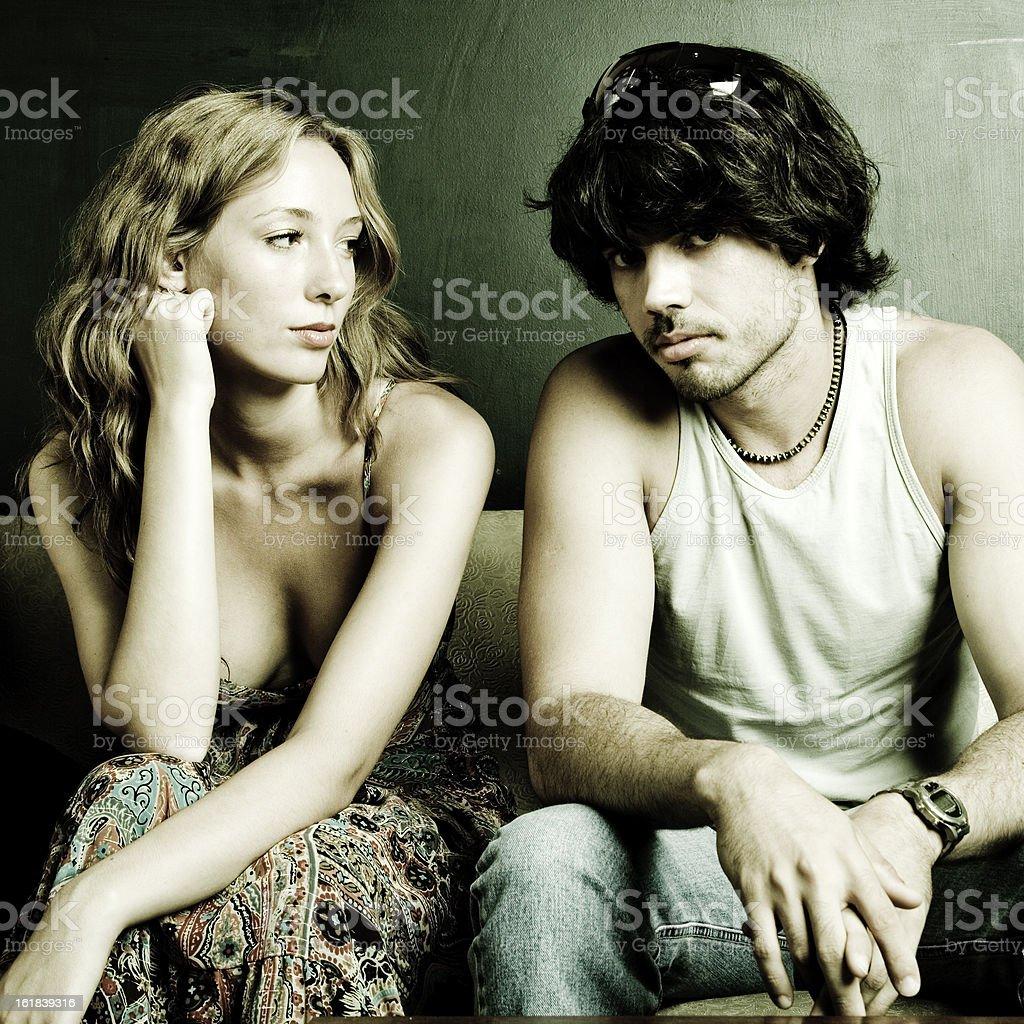 uncertainty couple portrait royalty-free stock photo