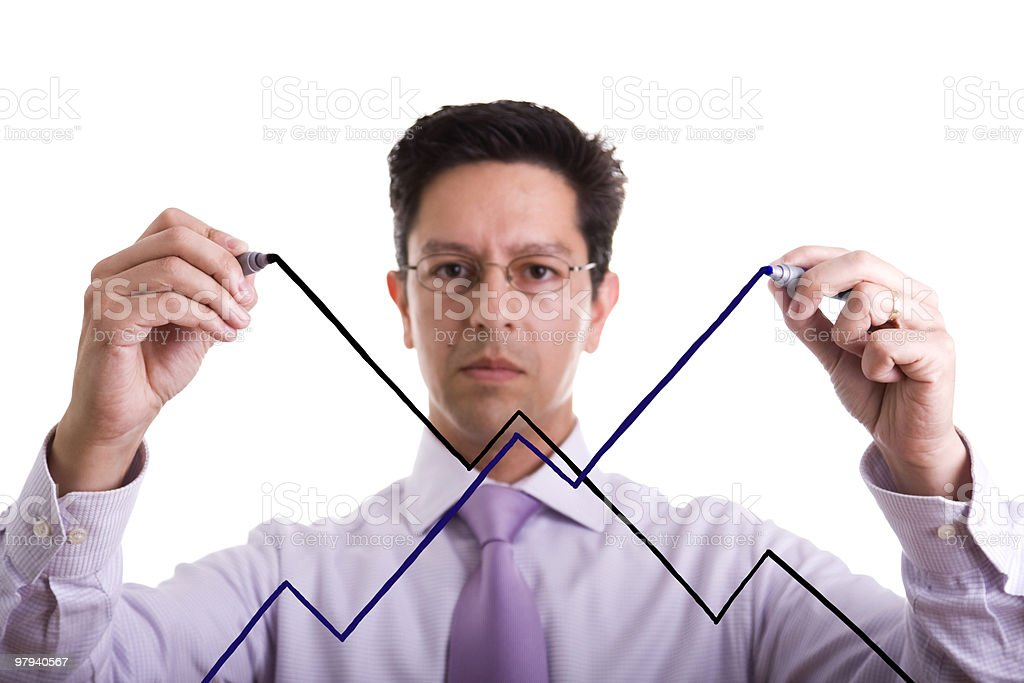 uncertainty market evolution royalty-free stock photo