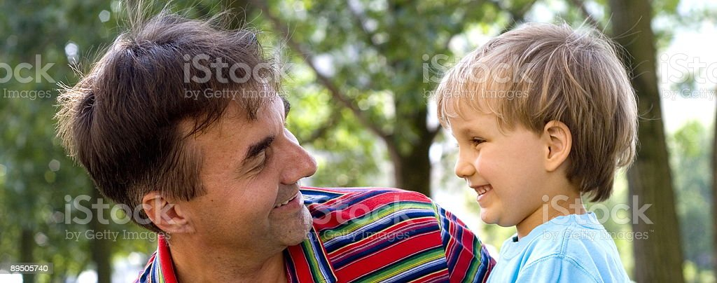 Uncle And Nephew royalty-free stock photo