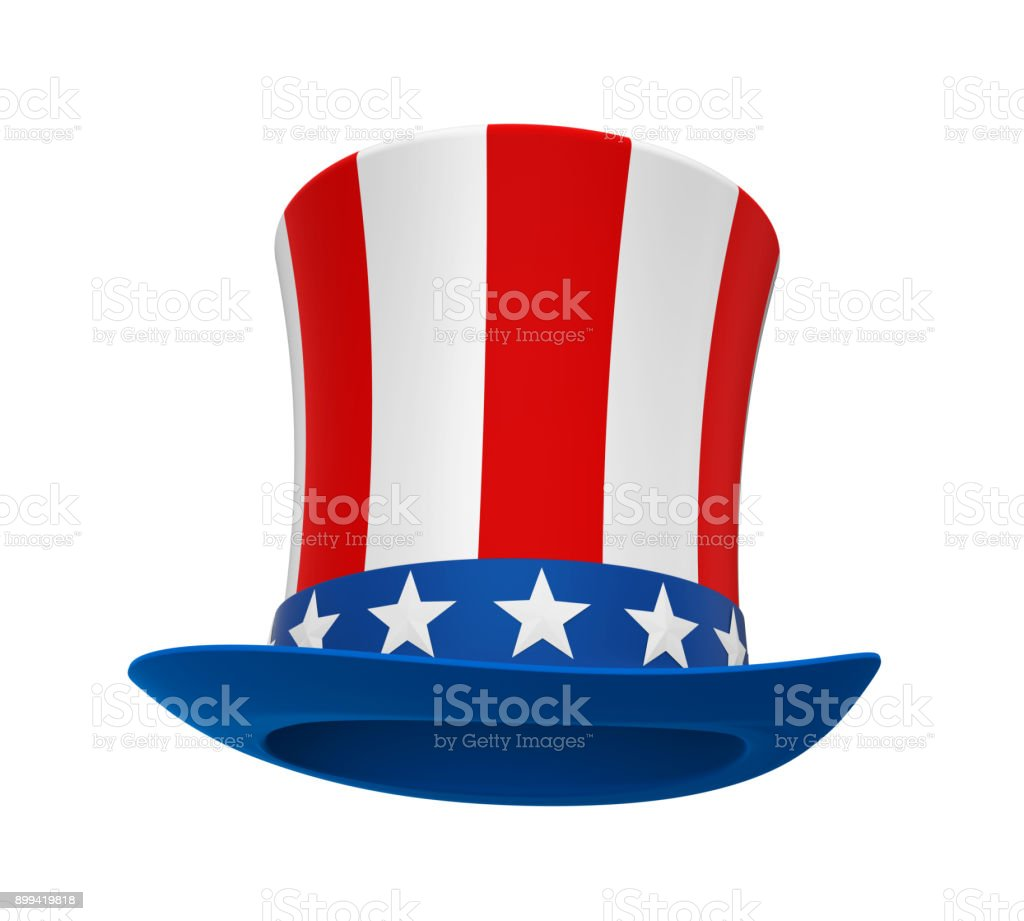 Uncle Sam Hat Isolated royalty-free stock photo