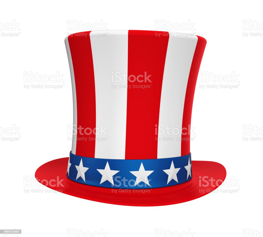 Uncle Sam Hat Isolated stock photo