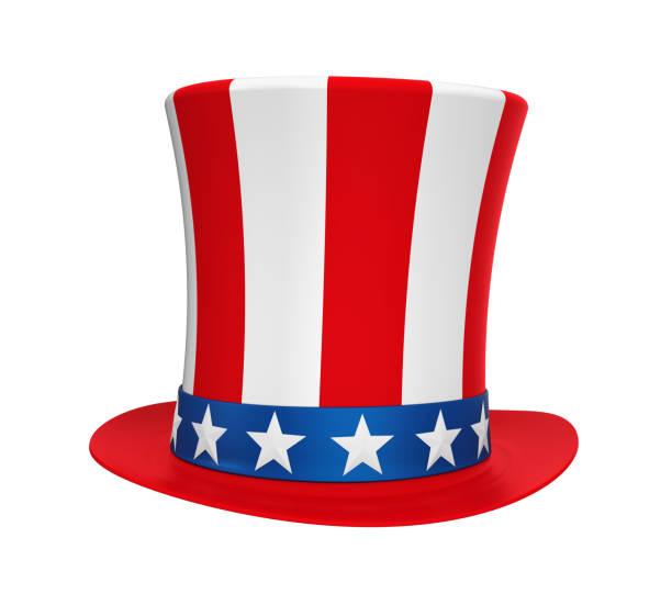 uncle sam hat isolated - президент стоковые фото и изображения