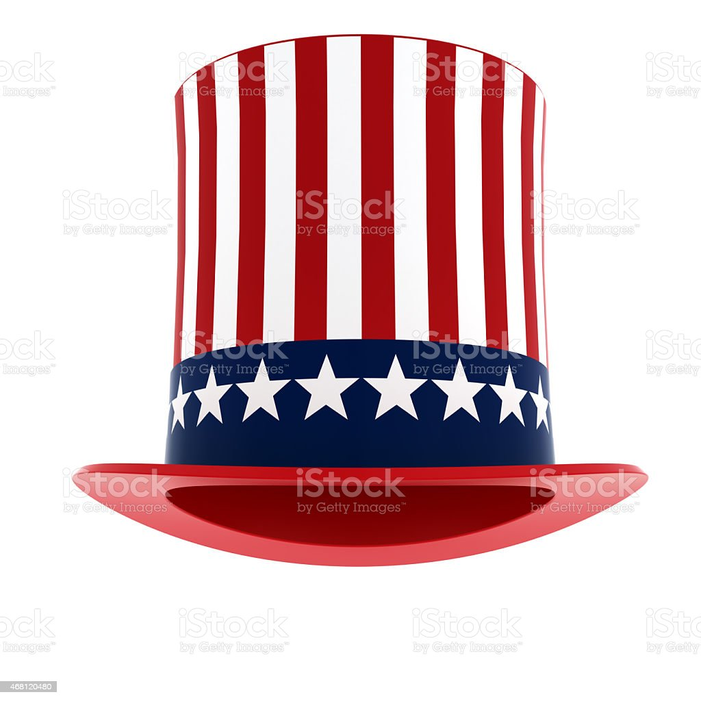 Uncle Sam hat stock photo