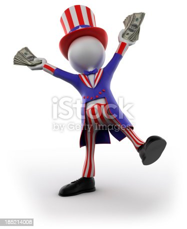 471353682 istock photo Uncle Sam holding cash, isolated with clipping path 185214008