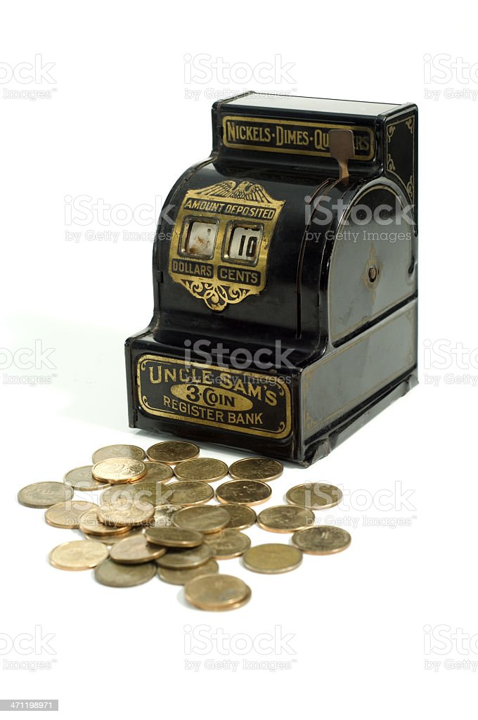 Uncle Sam Register Coin Bank royalty-free stock photo