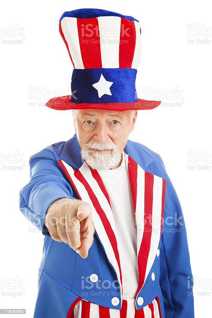 Uncle Sam Wants You royalty-free stock photo
