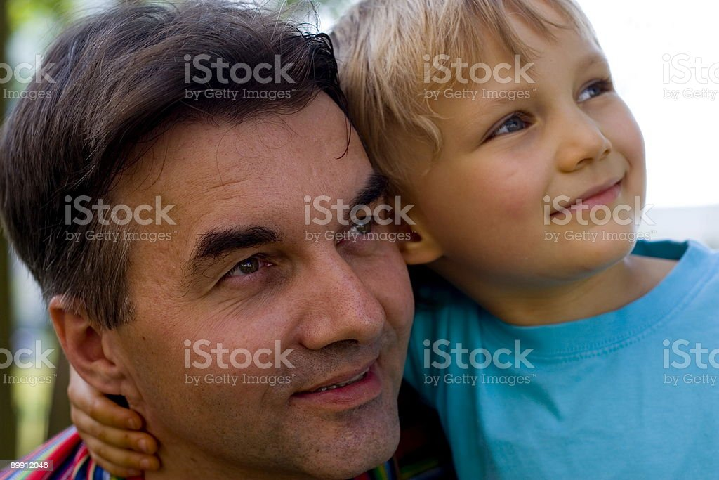 uncle with nephew stock photo