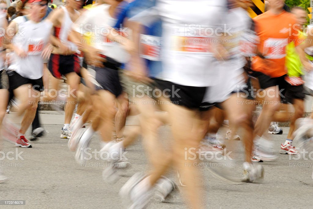 Unclear picture showing of runners royalty-free stock photo