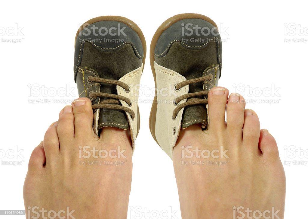 Uncomfortable shoes stock photo
